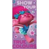 Trolls Glow Towel Pink