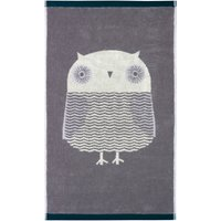 Donna Wilson Owl Grey Hand Towel Grey