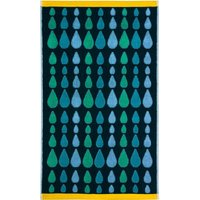 Donna Wilson Rain Drops Green Hand Towel Green
