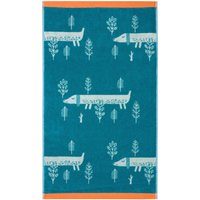 Donna Wilson Sausage Dogs Green Hand Towel Green