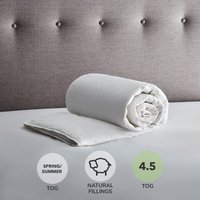 Fogarty White Goose Feather and Down 4.5 Tog Duvet White