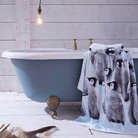 Catherine Lansfield Penguin Colony Towel White
