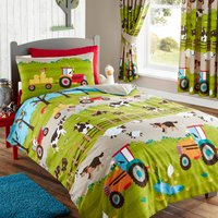 Farmyard Duvet Cover Set and Pillowcase Set Multi Coloured