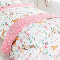 Horse Show Bedspread Multi Coloured