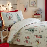 Billy Bunny Reversible Duvet Cover and Pillowcase Set Multi Coloured