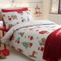 Elf Reversible Duvet Cover and Pillowcase Set Multi Coloured