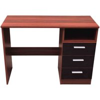 ottawa black and walnut 3 drawer dressing table black