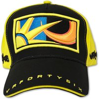 VR46 Valentino Rossi Black Yellow Sun and Moon Paddock Cap