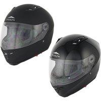 Stealth F117 Full Face Black Motorcycle Helmet