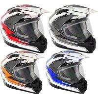 Stealth HD-009 Adventure Graphic Dual Sport Motorcycle Helmet