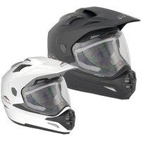 Stealth HD-009 Adventure Plain Dual Sport Motorcycle Helmet