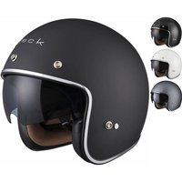 Black Classic Open Face Helmet