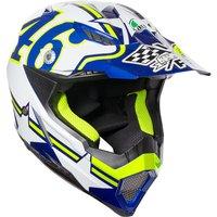 AGV AX-8 Evo E2205 Top Ranch Motocross Helmet 2XS White Blue Yellow