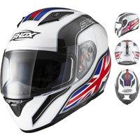 Shox Axxis Identity Motorcycle Helmet