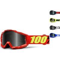 100% Accuri Sand Grey Smoke Motocross Goggles