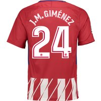 Atlético de Madrid Home Stadium Shirt 2017-18 - Kids with J.M. Giménez 24 printing