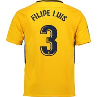 Atlético de Madrid Away Stadium Shirt 2017-18 with Filipe Luís 3 printing