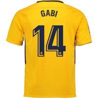 Atlético de Madrid Away Stadium Shirt 2017-18 with Gabi 14 printing