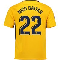 Atlético de Madrid Away Stadium Shirt 2017-18 with Nico Gaitán 22 printing