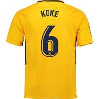 Atlético de Madrid Away Stadium Shirt 2017-18 - Kids with Koke 6 printing