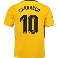 Atlético de Madrid Away Stadium Shirt 2017-18 - Kids with Carrasco 10 printing