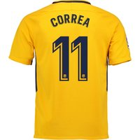 Atlético de Madrid Away Stadium Shirt 2017-18 - Kids with Correa 11 printing