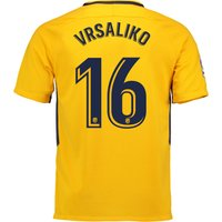 Atlético de Madrid Away Stadium Shirt 2017-18 - Kids with Vrsaljko 16 printing