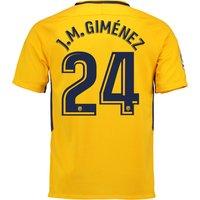Atlético de Madrid Away Stadium Shirt 2017-18 - Kids with J.M. Giménez 24 printing