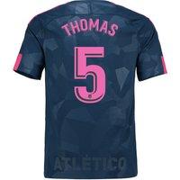 Atlético de Madrid Third Stadium Shirt 2017-18 with Thomas 5 printing