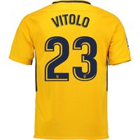 Atlético de Madrid Away Stadium Shirt 2017-18 with Vitolo 23 printing