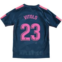 Atlético de Madrid Third Stadium Shirt 2017-18 - Kids with Vitolo 23 printing
