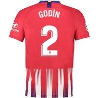 Atlético de Madrid Home Stadium Shirt 2018-19 with Godín 2 printing
