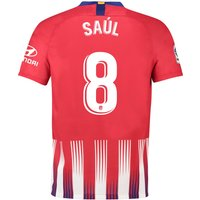 Atlético de Madrid Home Stadium Shirt 2018-19 with Saúl 8 printing