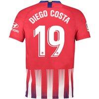 Atlético de Madrid Home Stadium Shirt 2018-19 with Diego Costa 19 printing