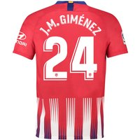 Atlético de Madrid Home Stadium Shirt 2018-19 with J.M. Giménez 24 printing
