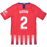 Atlético de Madrid Home Stadium Shirt 2018-19 - Kids with Godín 2 printing