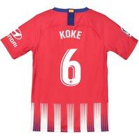 Atlético de Madrid Home Stadium Shirt 2018-19 - Kids with Koke 6 printing