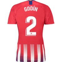 Atlético de Madrid Home Stadium Shirt 2018-19 - Womens with Godín 2 printing