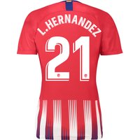 Atlético de Madrid Home Stadium Shirt 2018-19 - Womens with L. Hernandez 21 printing