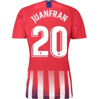 Atlético de Madrid Home Stadium Shirt 2018-19 - Womens with Juanfran 20 printing