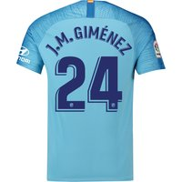 Atlético de Madrid Away Stadium Shirt 2018-19 with J.M. Giménez 24 printing