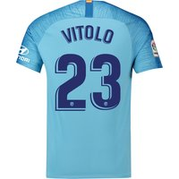 Atlético de Madrid Away Stadium Shirt 2018-19 with Vitolo 23 printing