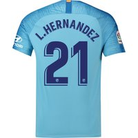 Atlético de Madrid Away Stadium Shirt 2018-19 with L. Hernandez 21 printing