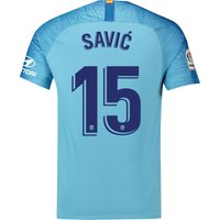 Atlético de Madrid Away Stadium Shirt 2018-19 with Savic 15 printing