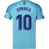 Atlético de Madrid Away Stadium Shirt 2018-19 with Correa 10 printing