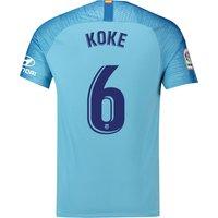 Atlético de Madrid Away Stadium Shirt 2018-19 with Koke 6 printing