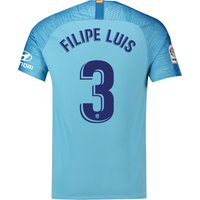 Atlético de Madrid Away Stadium Shirt 2018-19 with Filipe Luis 3 printing