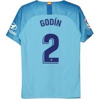 Atlético de Madrid Away Stadium Shirt 2018-19 - Kids with Godín 2 printing
