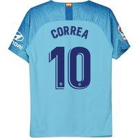 Atlético de Madrid Away Stadium Shirt 2018-19 - Kids with Correa 10 printing