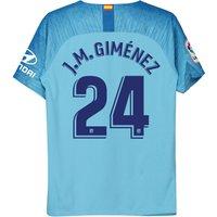 Atlético de Madrid Away Stadium Shirt 2018-19 - Kids with J.M. Giménez 24 printing